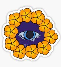Eye in Flower Ring Sticker