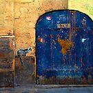 Marais cat and blue door by culturequest
