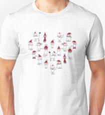 Christmas hat cats on cream T-Shirt