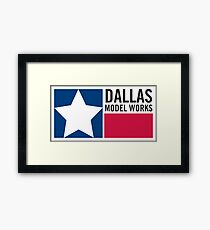 Dallas Model Works logo Framed Print