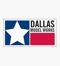 Dallas Model Works logo Photographic Print