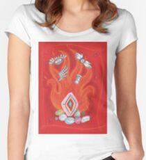 Die by the Fire, Born from the Ashes Women's Fitted Scoop T-Shirt