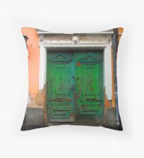Green door, Szentendre Throw Pillow