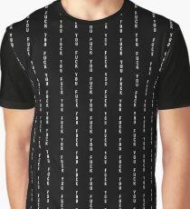 McGregor F You pin stripe Graphic T-Shirt
