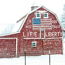 Americana Barn in the Snow Storm by Jim Stiles