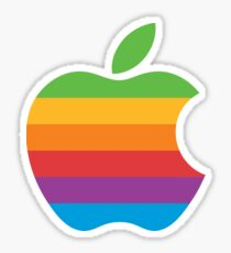 Logo Vintage Apple Sticker