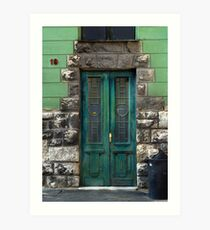 Green door, Pecs Art Print