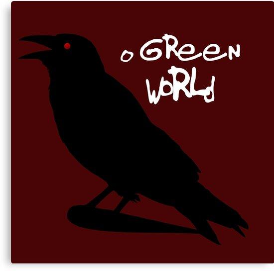 O Green World Gorillaz Demon Days Canvas Prints By Susie Timmons