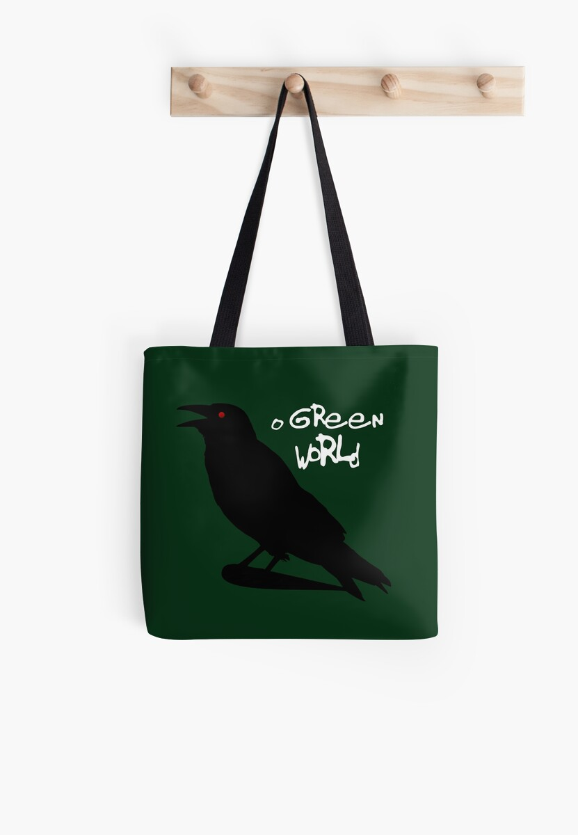 O Green World Gorillaz Demon Days Tote Bags By Susie Timmons