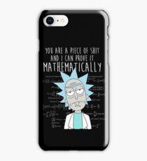 Rick Mathematically iPhone Case/Skin