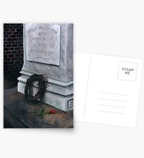 Poes Grab Postkarten