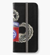 Vinilo o funda para iPhone 82 ° Parche de División Aerotransportada con Saltos.