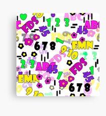 Children's pattern  Canvas Print