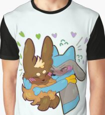 Lucario and Eevee Graphic T-Shirt