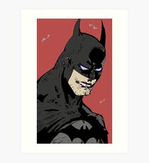 The Caped Crusader Art Print