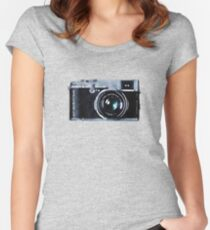 Watercolor Camera   Trendy/Hipster/Tumblr Meme Women's Fitted Scoop T-Shirt