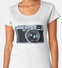 Watercolor Camera | Trendy/Hipster/Tumblr Meme Women's Premium T-Shirt