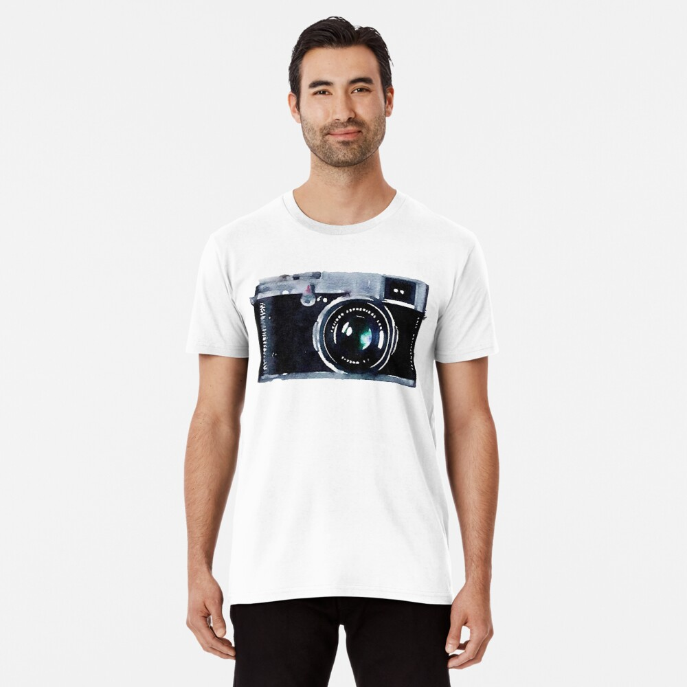 Cámara de acuarela | Trendy / Hipster / Tumblr Meme Camiseta premium