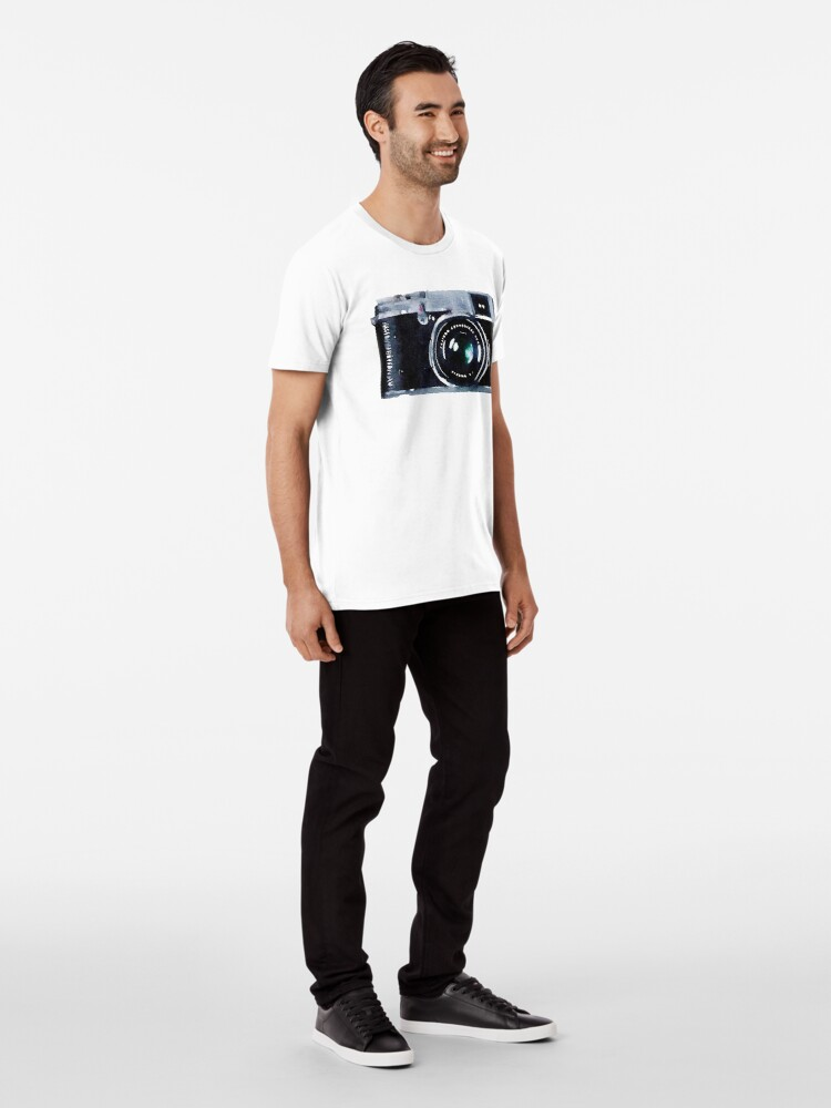 Vista alternativa de Camiseta premium Cámara de acuarela | Trendy / Hipster / Tumblr Meme