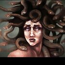 Medusa Portrait  by kikoeart