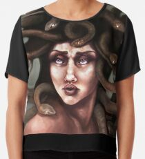Medusa Portrait  Chiffon Top