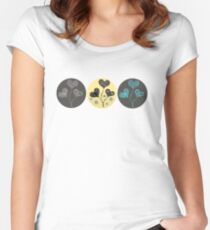 Tri heart flowers Women's Fitted Scoop T-Shirt