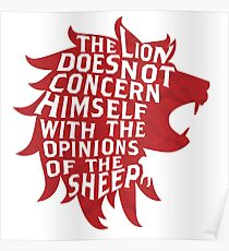 The Lion Does Not Concern Himself Poster
