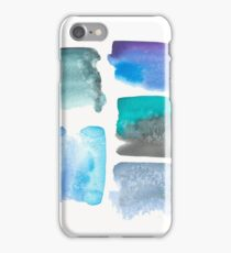 Salt Water Abstract Watercolor Collage iPhone Case/Skin