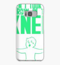 Vault Boy - Arrow in the Knee - Green - Transparent Background Samsung Galaxy Case/Skin