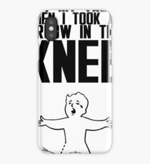 Vault Boy - Arrow in the Knee - Black - Transparent Background iPhone Case