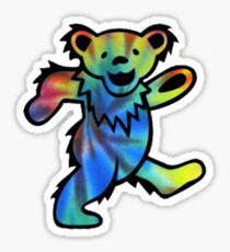 Grateful Dead Dancing Bear Tye Dye Sticker