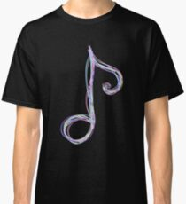 Neon Pastel Music Note Classic T-Shirt