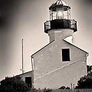Cabrillo Light House Black and White by HeavenOnEarth