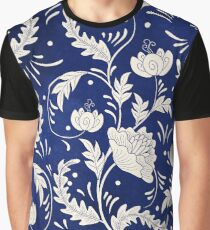 Retro Vintage Russian Flower Pattern Graphic T-Shirt