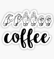 coffee ASL Sticker
