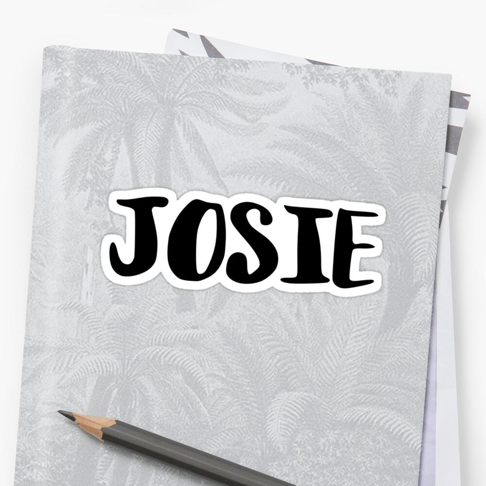 Josie Sticker Front