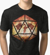 Fire Dragon D20 Tri-blend T-Shirt