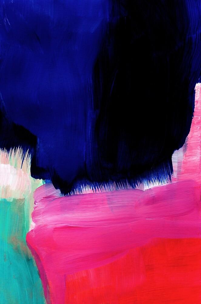 Blue nightfall abstract by SaryandSaff