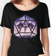 Purple Sky Dragon D20 Women's Relaxed Fit T-Shirt