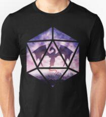 Purple Sky Dragon D20 T-Shirt