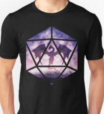 Purple Sky Dragon D20 Unisex T-Shirt