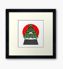 Pixel Japan House Framed Print