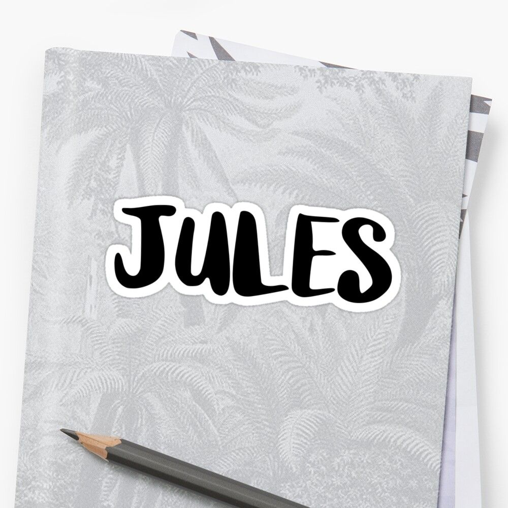 Jules Sticker Front