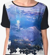 above the clouds: puzzle edition Women's Chiffon Top