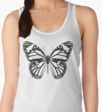 Monarch Butterfly Pattern | Black and White Women's Tank Top
