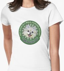 Pomeranian Dad Eat Sleep Dog Repeat Women's Fitted T-Shirt