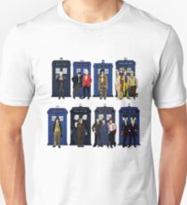 The 14 Doctors and Tardises T-Shirt