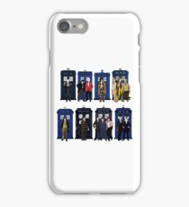 The 14 Doctors and Tardises iPhone Case/Skin