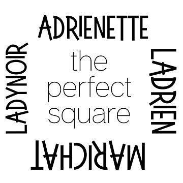 Miraculous Ladybug Love Square - Ladrien, Adrienette, LadyNoir, MariChat by EleanorRoseYT