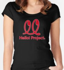 Hello Project Old School Logo - Red/White Women's Fitted Scoop T-Shirt